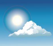Blue sky cloud sun light shine Stock Photography