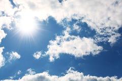 Blue sky, cloud and sun. Stock Image