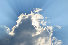 Blue sky and cloud. Blue sky and sun ray stock photography