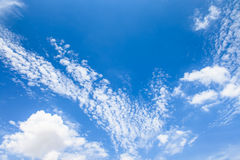 Blue sky with cloud. In sunny day Stock Photography