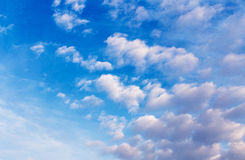 Blue sky with cloud in a sunny day Royalty Free Stock Image