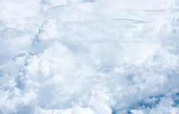 Blue sky and Cloud Top view from airplane window,Nature backgrou Stock Images