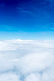 Blue sky and Cloud Top view from airplane window,Nature backgrou Stock Photos