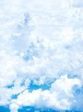 Blue sky and Cloud Top view from airplane window,Nature backgrou Royalty Free Stock Photo