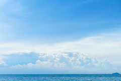 Blue sky with cloud and tropical sea Royalty Free Stock Photos