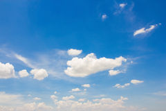 Blue sky with cloud. Stock Image