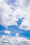 Blue sky with cloud. Blue sky with white cloud scene Royalty Free Stock Photo
