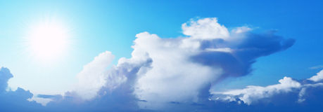 Blue sky and cloud Stock Images