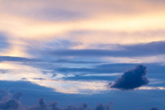 Blue sky cloudly on the sunset. Stock Photography