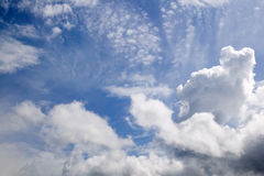 Blue sky with clouds. There is blue sky with white clouds Stock Images