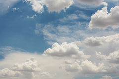 Blue sky with clouds. Beautiful blue sky with clouds stock photos