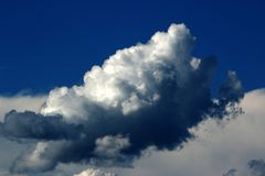 Blue, Sky, Clouds Royalty Free Stock Photos