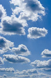Clouds on blue sky. Blue sky and clouds, vertical shoot, cloud Stock Photo