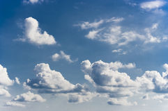Blue sky and clouds. In landscape orientation Stock Photo