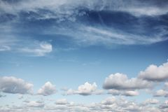 Blue sky with clouds Royalty Free Stock Images