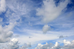 Blue sky with clouds. Framing the edges Stock Photos