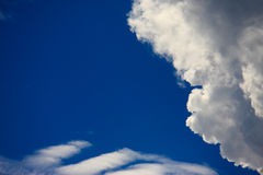 Blue Sky with clouds. Clouds and clear blue sky Stock Images