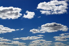 The blue sky with clouds Royalty Free Stock Photography