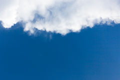 Blue sky with clouds. Beautiful b;ue sky with white soft clouds Royalty Free Stock Photos