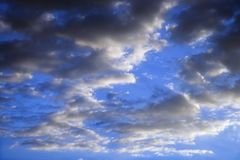 Blue sky and clouds. Royalty Free Stock Photography