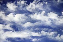 Blue sky and clouds. Royalty Free Stock Photos