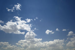 Blue sky and clouds. Blue summer sky and clouds Stock Photo