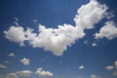 Blue sky and clouds. Blue summer sky and clouds Stock Images