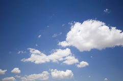 Blue sky and clouds. Blue summer sky and clouds Royalty Free Stock Photography