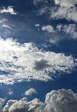 Blue sky with clouds. Blue sky with interesting white clouds Royalty Free Stock Photos