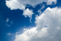 Blue sky with clouds. Photo of blue sky with clouds Stock Images