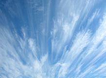 Blue sky with clouds. Abstract image Royalty Free Stock Photography