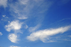 Blue sky and clouds. Blue sky with some white clouds Stock Image