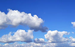 Blue sky. Clouds on the blue sky royalty free stock image