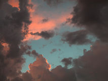 Blue Sky Through Clouds Royalty Free Stock Photo