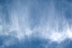 Blue sky with clouds.  Stock Photos