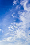 Blue sky and clouds. Closeup blue sky and fluffy clouds background Royalty Free Stock Photography