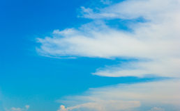 Blue sky and clouds stock image