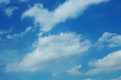 The blue sky with clouds Stock Image