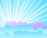 Blue sky with clouds. Vector illustration stock illustration