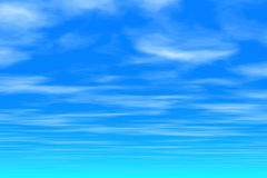 Blue sky - Clouds. Morning Blue Sky  - Clouds Royalty Free Stock Image