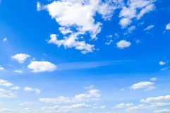 Blue sky and clouds Stock Photos