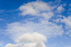 Blue sky with clouds. Blue sky with white clouds Royalty Free Stock Photos