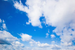 Blue sky and clouds. Background abstract: blue sky and clouds Stock Photos