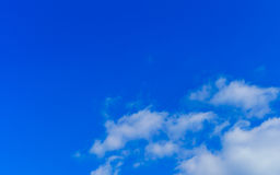 .Blue sky with clouds Royalty Free Stock Photo