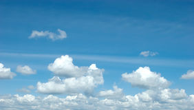 Blue sky and clouds. Blue sky is covered by white clouds Stock Photos