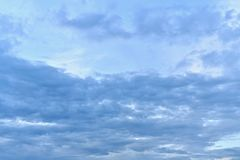 The pure part of the sky is like a horizontal ellipse frame. stock images