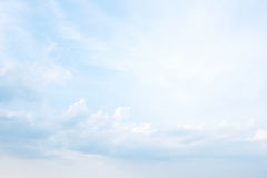 Blue sky and clouds abstract background Royalty Free Stock Photos