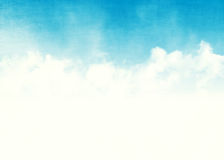 Blue sky and clouds abstract illustration Royalty Free Stock Photography