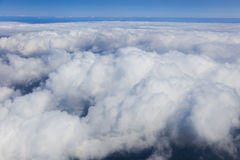 Blue sky with clouds, aerial photography Stock Photos