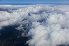 Blue sky with clouds, aerial photography. Blue sky and clouds, aerial photography Royalty Free Stock Photos